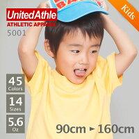 UnitedAthle(��ʥ��ƥåɥ�����)��Ⱦµ̵�ϣԥ����5.6oz.���ۥ磻�ȡ��֥�å������졼��100cm��160cm