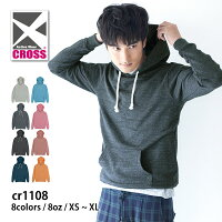 CROSS(クロス):トライブレンドジップパーカー:XS〜XL