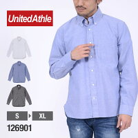 UnitedAthle(ユナイテッドアスレ) オックスフォードボタンダウンロングスリーブシャツ