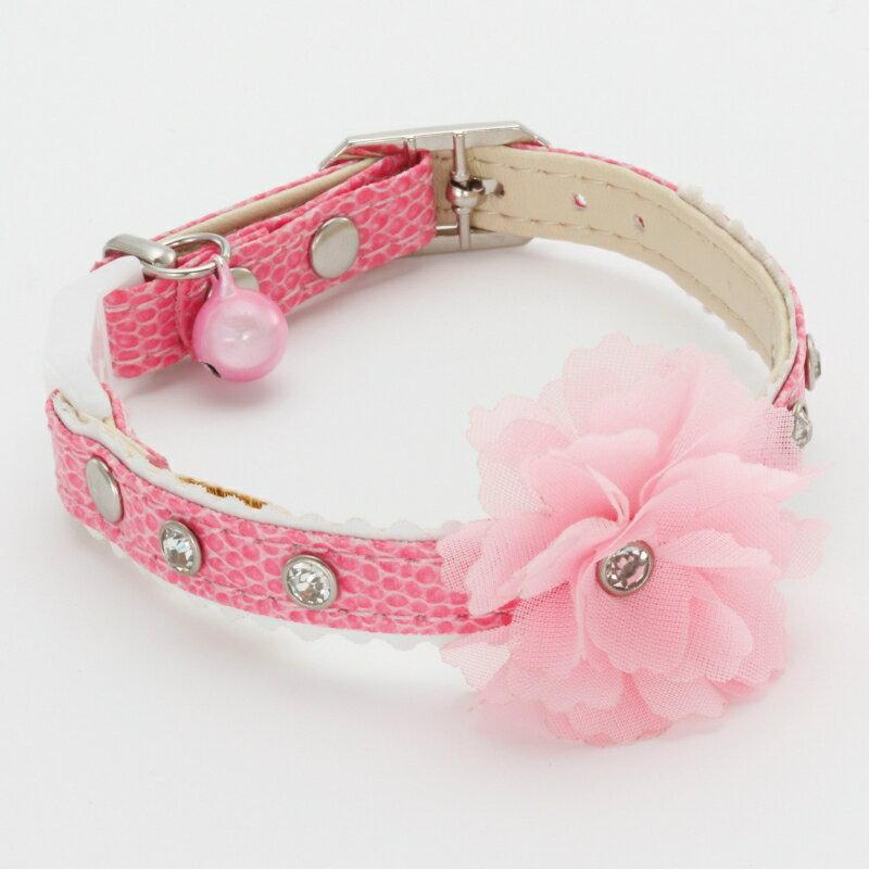 【猫の首輪】ペティオ プレシャンテ キャットカラー フラワー ピンク 成猫用Mサイズ