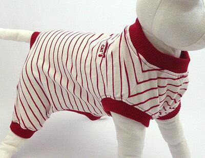 やわらかいリラックスねこパジャマ【猫のお洋服】.猫のパジャマキャットパジャマ レッド M