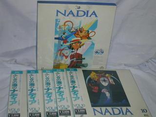 (LD)ふしぎの海のナディア ハーフBOX前半+VOL.6~10 全10巻セット