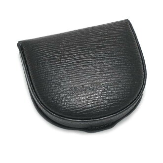 .66-7042 Ferragamo /Salvatore Ferragamo horse's hoof type coin purse NERO black