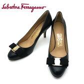 フェラガモ/Salvatore Ferragamo レディース 靴 リボン パンプス CARLA 70 0592242 ブラック 【即発送可能】
