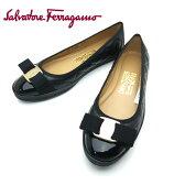 フェラガモ/Salvatore Ferragamo レディース 靴 リボン スニーカー フラットシューズ RUFINA 0593405 ブラック 【即発送可能】