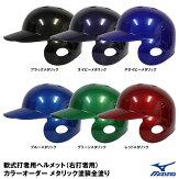 【あす楽対応】ミズノ(MIZUNO)1DJHR103軟式打者用ヘルメット(右打者用)カラーオーダーメタリック塗装全塗り野球用品2020SS