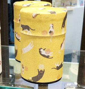 送料無料定形外郵便(特定記録)お茶缶ネコ茶筒茶筒ミニサイズ茶葉ストッカーお茶缶小さいねこ猫猫グッズプチギフトプレゼント雑貨可愛いかわいい