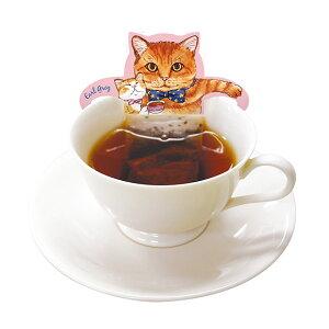 メール便送料無料期間限定カップの縁にひっかけるティーバッグ飲み比べセット4種類各1セットキャットカフェ(アールグレイ・メープル・アップル・緑茶)紅茶ギフトプレゼントネコグッズネコ雑貨紅茶ねこ猫ネコティーバッグ