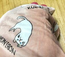送料無料定形外郵便(特定記録)ネムネムターチャンブランケットSフランネルひざ掛けねこ猫ネコオフィス自宅車内お昼寝こども子どもプレゼントギフトCATcatバッグ猫グッズ雑貨可愛いかわいい