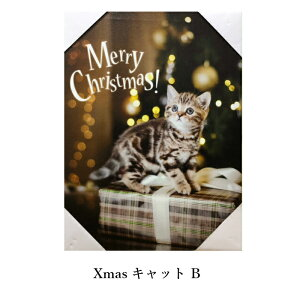 送料無料定形外郵便(特定記録)LEDキャンバスXmasキャット壁掛け式ネコねこ猫インテリア光るアートプレゼントギフト小物CATcat猫グッズ雑貨可愛いかわいいおしゃれ