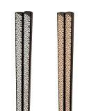 【伝統的な手法をモダンに】一文字箸(銀・金)青海波(銀24.0cm/金22.5cm)