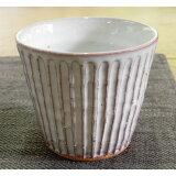萩焼・しのぎフリーカップ(白)