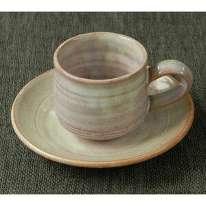 萩焼・紫コーヒー・カップ&ソーサー