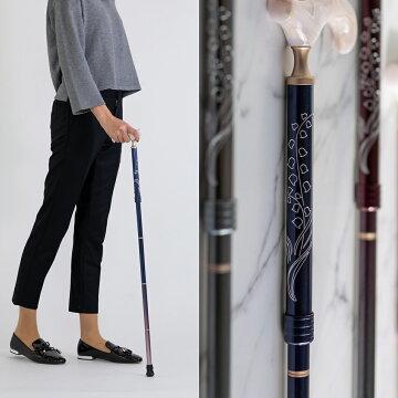 バッグに入る折りたたみ杖(彫刻デザイン)男性女性母の日父の日おしゃれプレゼントギフト軽量旅行高級還暦古稀喜寿傘寿米寿卒寿専門店