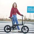 【8月より順次発送】【送料無料】電動自転車電動アシスト自転車自転車16インチバッテリー搭載(電気自転車)折りたたみライトスタンド自転車【YZPRO】