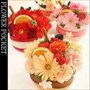 【あす楽対応】フルーツいっぱい♪ケーキ?みたいなフラワーケーキ【送料無料】フラワーアレン...