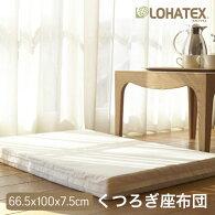 ロハテックス【新製品】ラテックス高反発枕LOHATEXくつろぎ座布団厚さ7.5cmファスナー付アウトカバー取り外し・洗濯可能60×95×7.5cm