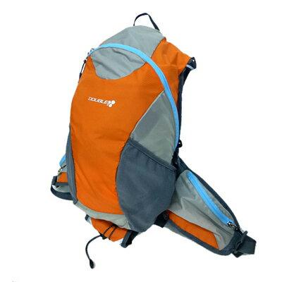 ●代引き不可 (送料無料) DOUBLE3 ランニングバッグ18L 超軽量(DW2900) オレンジ