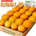 『たねなし柿(刃根または平核無柿)』 和歌山県または奈良県産 M〜3Lサイズ 約7.5kg(26〜40玉)送料無料