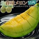 メロン ギフト 贈り物 千葉県・飯岡産 貴味メロン(青肉) 4〜5L×2玉 合計約3.2kg 送料無料