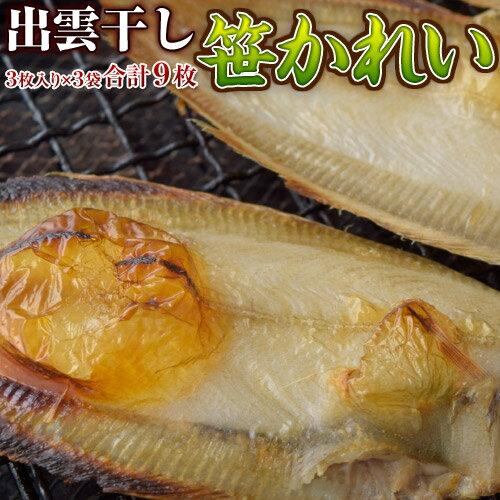 《送料無料》幻の高級魚 「笹かれい干物」 3尾(約130g)×3袋 ※冷凍 sea ○