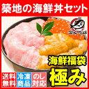 【送料無料 海鮮福袋】築地の海鮮丼セット 極み 約3〜4人前...