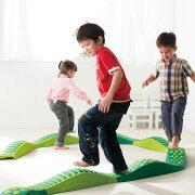 ウェイブバランス平均台(グリーン)低床型平均台バランス遊具