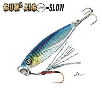釣研 オーシャンルーラー ガンガンジグ ミニ スロー 5g ブルー / メタルジグ (メール便可) (O01) (セール対象商品)