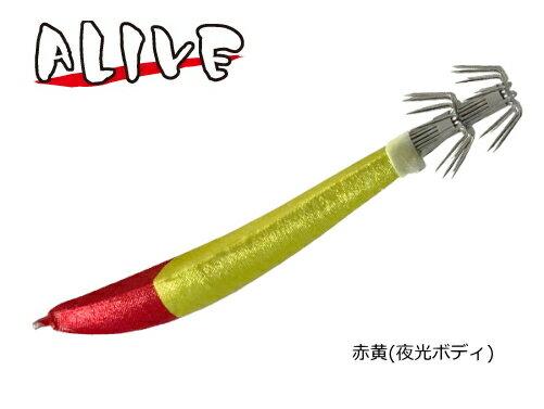 アライブ (ALIVE) ゴーゴースッテ 赤黄 40号 (夜光ボディ) / イカメタル専用 (メール便可) / SALE10