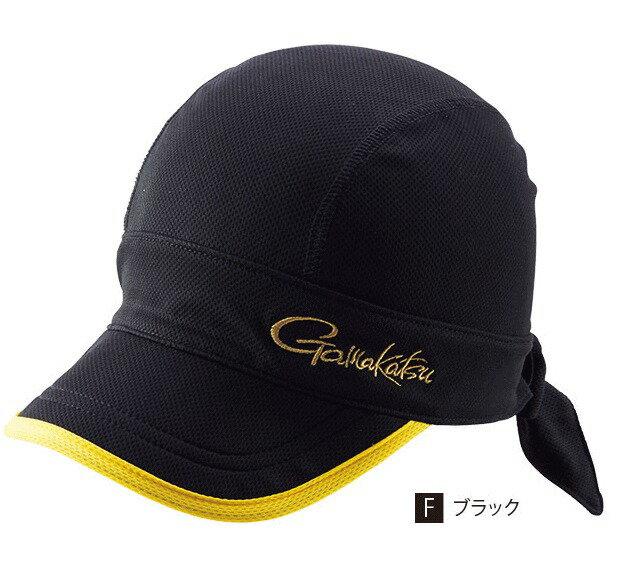 がまかつ フレキシブルフィットクールキャップ GM-9837 ブラック フリーサイズ / 帽子 (お取り寄せ商品)