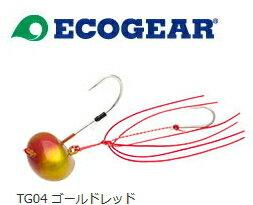 マルキュー エコギア TG オーバルテンヤ 10号 #TG04 ゴールドレッド (メール便可) (O01)