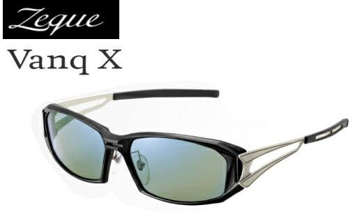 ジールオプティクス ヴァンクエックス (Vanq X) F-1767 ブラック×シルバー / 偏光サングラス (送料無料) / セール対象商品 (11/18(月)12:59まで)