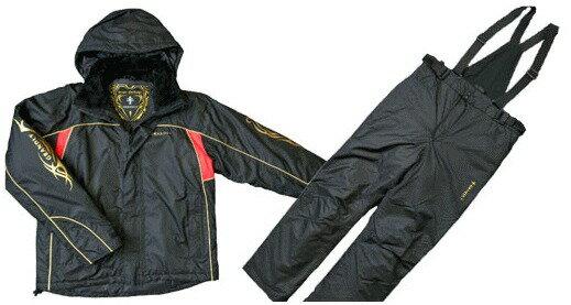 エクセル 透湿 防水防寒サロペットスーツ GS-4300 ブラック Lサイズ / 防寒着 レインスーツ (O01) / セール対象商品 (11/18(月)12:59まで)
