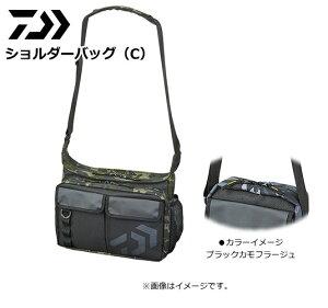 ダイワ D ショルダーバッグ(C) ブラックカモフラージュ / タックルバッグ (O01) (D01)