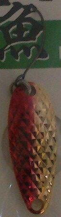【ムカイ】岩魚スプーン2.5g03レッドゴールド