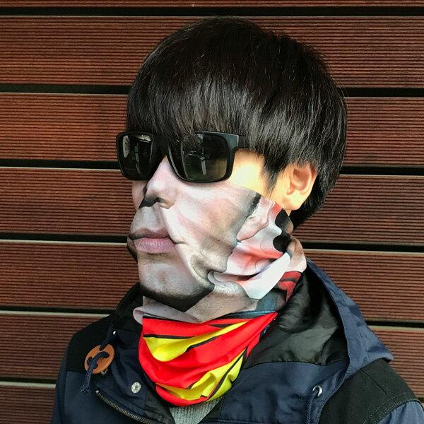【1000円ぽっきり】 フェイスマスク フェイスカバー ネックウォーマー UV対策/日焼け防止 防風 防寒 速乾 新品 ポッキリ スーパーヒーロー画像