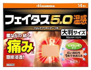 【第2類医薬品】久光製薬 フェイタス5.0 温感 大判サイズ 微香性 (14枚入) 【セルフメディケーション税制対象商品】 ツルハドラッグ