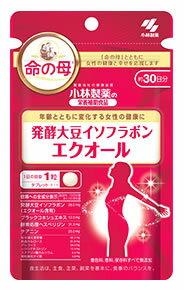 小林製薬小林製薬の栄養補助食品命の母発酵大豆イソフラボンエクオール約30日分(30粒)女性の健康に