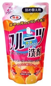 リアルメイト フルーツ洗剤 ネオポポラ ポポラクリーン つめかえ用 (360mL) 詰め替え用 マルチ洗剤 ツルハドラッグ