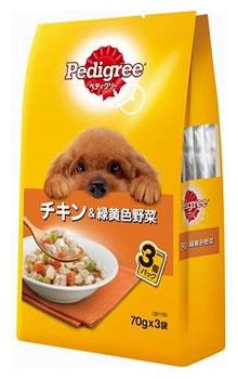 マースジャパン ペディグリー パウチ 成犬用 チキン&緑黄色野菜 3袋パック (70g×3袋) ドッグフード