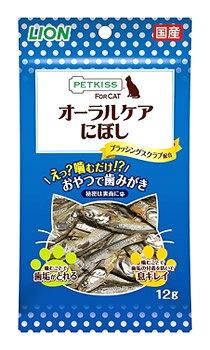 ライオン ペットキッス オーラルケア にぼし (12g) 猫用おやつ 口臭予防