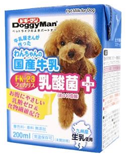 ドギーマン わんちゃんの国産牛乳 乳酸菌プラス (200mL) ドッグフード 犬用ミルク