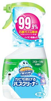 ジョンソンスクラビングバブルカビも防げるバスクリーナーフローラルの香り本体(400mL)浴室用洗剤