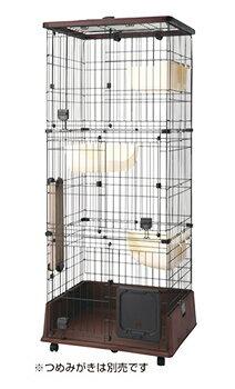 ペティオ necoco 仔猫からのしつけにもぴったりなキャットルーム 3段タイプ (1個) 猫用ケージ 猫用サークル