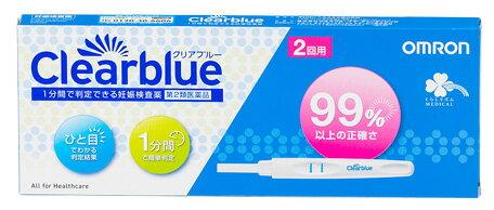 【第2類医薬品】くらしリズム メディカル オムロン 妊娠検査薬 クリアブルー (2回用)