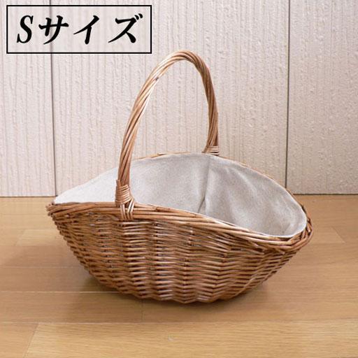 カーブの可愛いワンハンドルバスケットSサイズ 34×27×h15(取っ手までh29)【披露宴・パーティ】