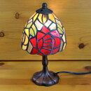 ステンドグラスランプ2色のバラ(ミニチュアローズ)小型12×h24