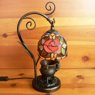 Stained glass lamp hanging type 1 arm Camellia kitten (= ^-^ =) objects with medium-sized 20 x h35