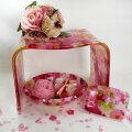 風呂椅子バスチェアー風呂イスレースと薔薇のスペシャル5点バスセット
