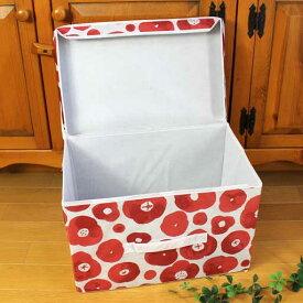【かご1000点即日発送】折りたたみカラーボックス収納ボックスフタ付き<ハーブ柄・チェック柄>38×25×h25【手荷物入れ】